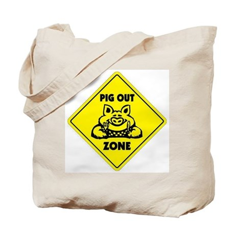 Pig Out Zone Tote Bag