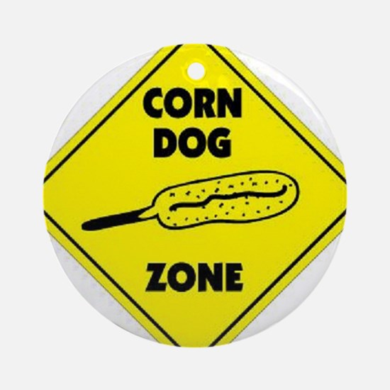 Corn Dog Zone Ornament (Round)