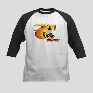 Jesus Saves Kids Baseball Jersey