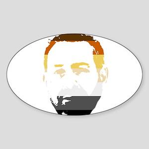 Bear Pride Oval Sticker