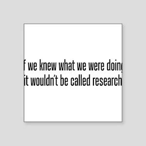 research black Sticker