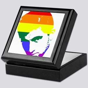 Gay Pride Face Keepsake Box
