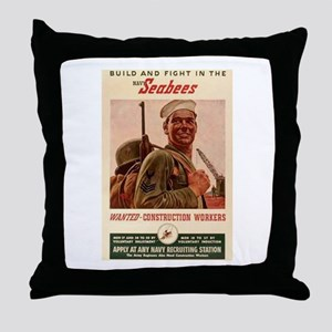 Fighting Seabees Throw Pillow