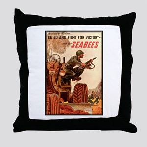 Join the Seabees Throw Pillow