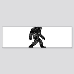 Bigfoot Sasquatch Yowie Yeti Yaren Bumper Sticker