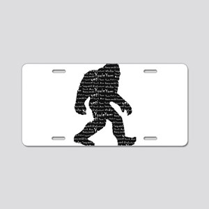 Bigfoot Sasquatch Yowie Yet Aluminum License Plate