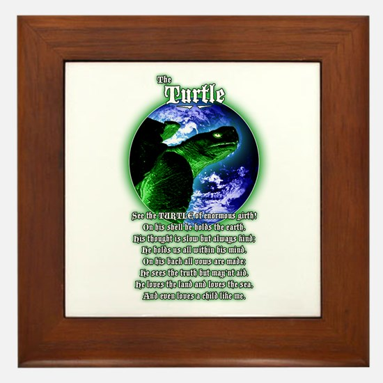"""The Turtle"" Framed Tile"