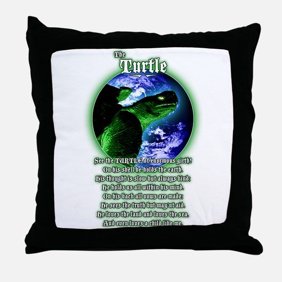 """""""The Turtle"""" Throw Pillow"""