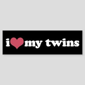 I (heart) my twins - Bumper Sticker