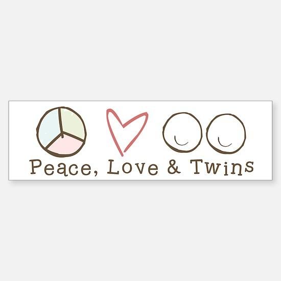 Peace Love & Twins - Bumper Bumper Bumper Sticker