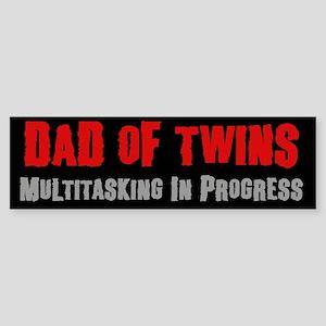 Dad of Twins - Bumper Sticker