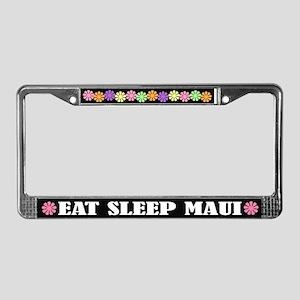 Eat Sleep Maui License Plate Frame