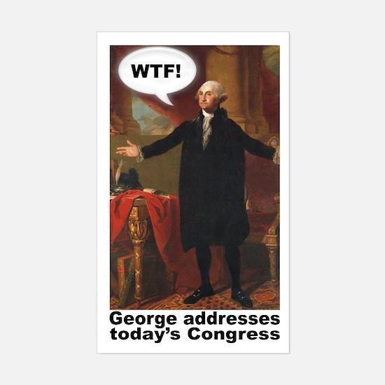 George Washington WTF! Rectangle Decal