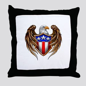 True American Eagle Throw Pillow