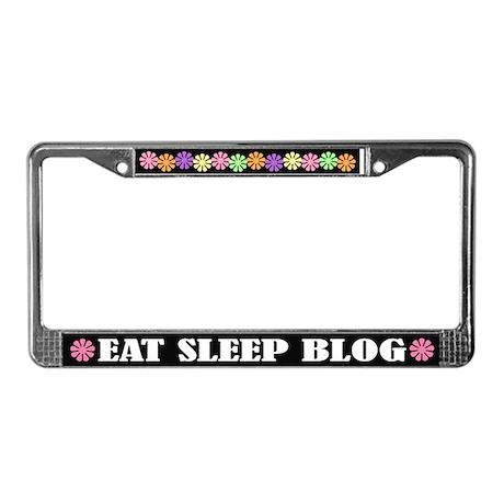 Eat Sleep Blog License Plate Frame