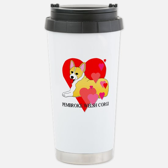 Pembroke Welsh Corgi Stainless Steel Travel Mug