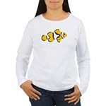 Women's LS T-Shirt Clownfish front Reef Back