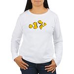 Women's LS T-Shirt Clownfish front Reef Back