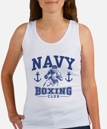 Navy Boxing Women's Tank Top