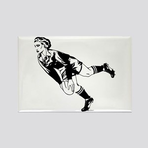Women's Rugby Pass Rectangle Magnet