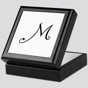 Initial M Keepsake Box