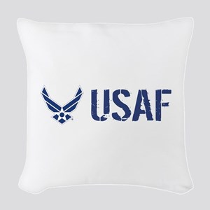 USAF: USAF Woven Throw Pillow