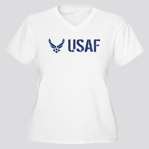 USAF: USAF Women's Plus Size V-Neck T-Shirt