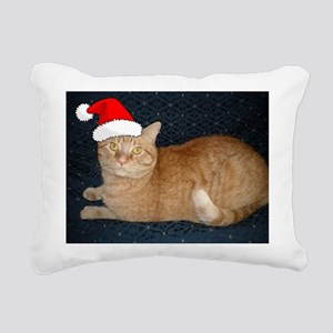 Christmas Orange Tabby Cat Rectangular Canvas Pill