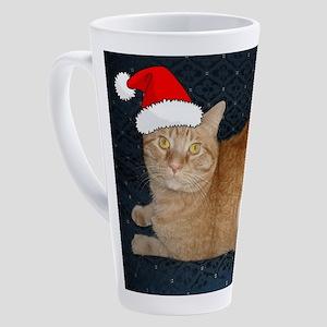 Christmas Orange Tabby Cat 17 oz Latte Mug