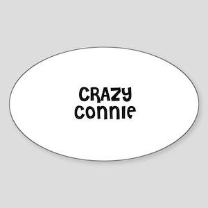 CRAZY CONNIE Oval Sticker