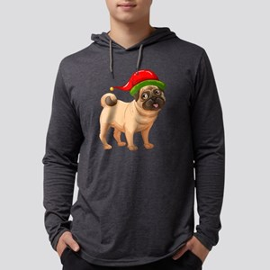 Cute Pug in a Christmas Elf Ha Long Sleeve T-Shirt