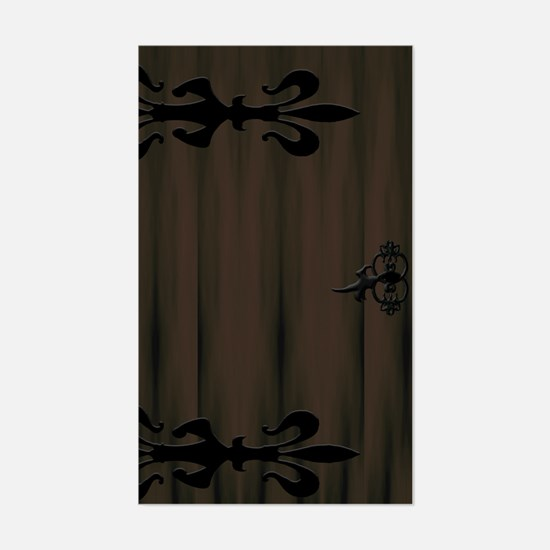 Wooden and Iron Door Rectangle Decal