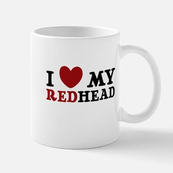 I Love My Redhead Mug