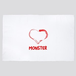 I Love My Little Pooping Monster Guine 4' x 6' Rug