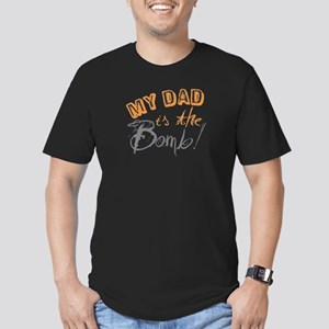 My Dad is the Bomb Men's Fitted T-Shirt (dark)