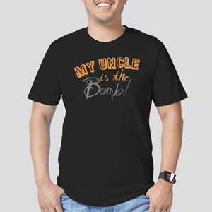 My Uncle is the Bomb Men's Fitted T-Shirt (dark)