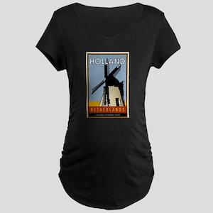 Netherlands Maternity Dark T-Shirt