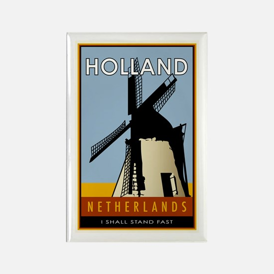 Netherlands Rectangle Magnet