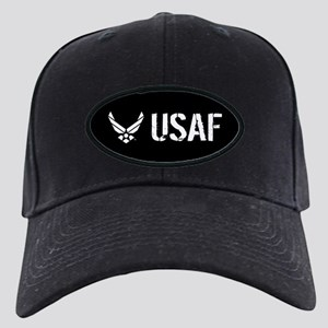 USAF: USAF Black Cap with Patch