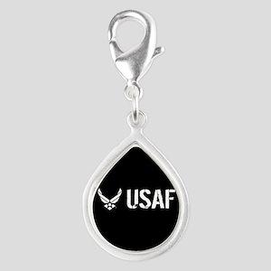 USAF: USAF Silver Teardrop Charm