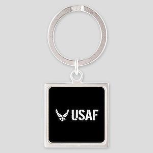 USAF: USAF Square Keychain