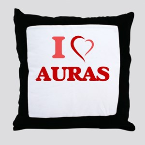 I Love Auras Throw Pillow