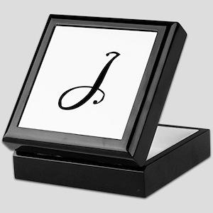 Initial J Keepsake Box
