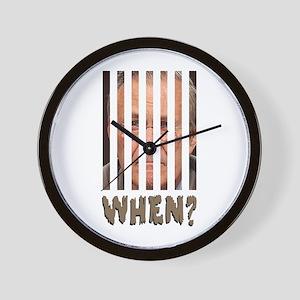 don behind bars Wall Clock