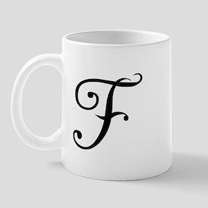 Initial F Mug