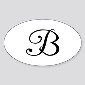 Initial B Oval Sticker