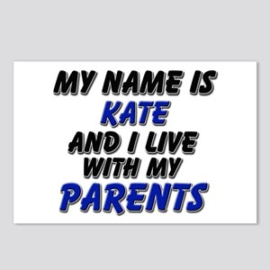 my name is kate and I live with my parents Postcar