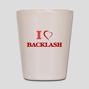 I Love Backlash Shot Glass