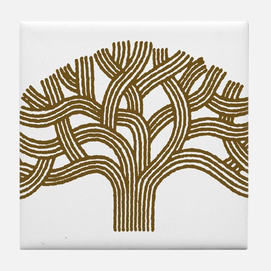Oakland Walnut Tree Tile Coaster