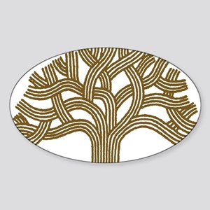 Oakland Walnut Tree Oval Sticker